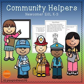ESL Newcomer: Community Helpers- Reading Comprehension Pas