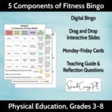 PE Activities - Digital 5 Components of Fitness Bingo Cards