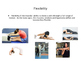 5 Components of Fitness PowerPoint Slides for Presentation or Poster-Making