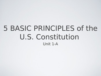 Five Constitutional Principles Powerpoint