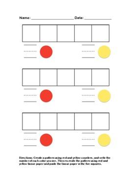 5 Counter Pattern Activity Sheet
