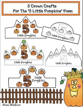 "5 Crown Craftivities For ""5 Little Pumpkins"" Poem"
