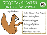 """5 DAYS- DISTANCE LEARNING  SPANISH UNIT – DIGITAL GAME – """"A"""" VOWEL"""