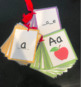 5 DIFFERENT SETS OF LETTER AND SOUND FLASHCARDS.