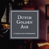 5 DUTCH GOLDEN AGE Themes for PowerPoint - BUNDLE