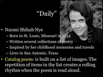 5 Daily by Naomi Shihab Nye