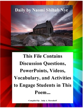Daily by Naomi Shihab Nye Teacher Supplemental Resources Fun Engaging