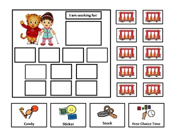 5 Daniel Tiger Token Board Bundle - 10 Token