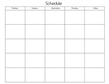 5 Day Calendar Template