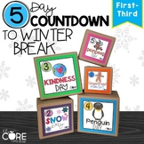 5 Day Classroom Countdown to Winter Break for Primary Grades 1-3