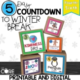5 Day Classroom Countdown to Winter Break for Upper Grades 4-6