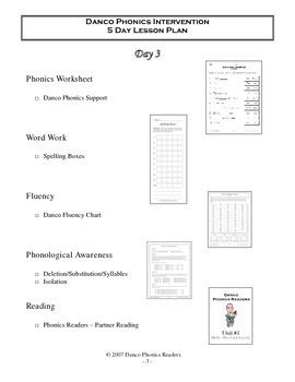 5 Day Danco Lesson Plan