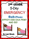 Substitute Lesson Plans for 2nd Grade (5 days)