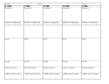 Gradual Release Of Responsibility Lesson Plan Template Teaching