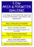 5-Day Math Challenge (Area & Perimeter)