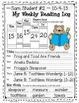 5-Day Reading Log for the Primary Grades