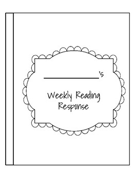 5 Day Reading Response Packet