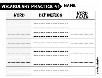 5-Day Vocabulary Practice