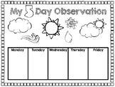 5 Day Weather Observation