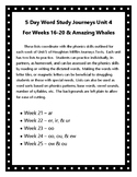 5 Day Word Study & Fluency with Journeys Unit 5 Weeks 21-25