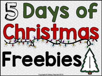 5 Days of Christmas Freebies! Day 1