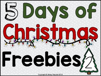5 Days of Christmas Freebies - Day 2