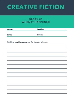 5 Days of Creative Writing Prompts - Back To School