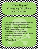 5 More Days of Emergency Sub Plans ELA Mini Unit!