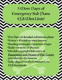5 More Days of Emergency Sub Plans eLearning ELA Mini Unit!