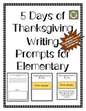 5 Days of Thanksgiving Writing Prompts and Vocabulary