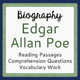 Edgar Allan Poe Biography Informational Texts Activities