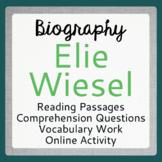 NIGHT Elie Wiesel Biography Informational Texts Activities