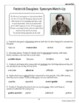 Frederick Douglass Biography Informational Texts Activities