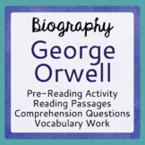 Animal Farm George Orwell Biography Informational Texts Activities