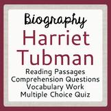 HARRIET TUBMAN Biography Underground Railroad Texts Activi