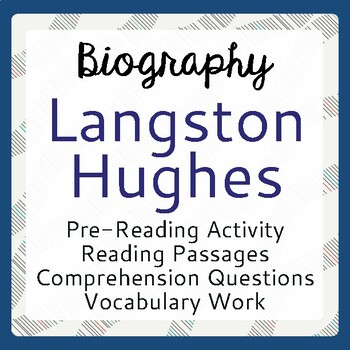 Langston Hughes Biography Informational Texts Activities