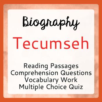 Tecumseh Biography Informational Texts Activities Grade 6, 7, 8