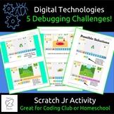 Problem Solving STEM/Coding, 5 Debug Challenges Scratch Jr