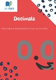Decimals -Amazing printable with fun-activities, worksheets-Interactive learning