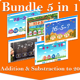 5 Decks in 1 | Addition and Subtraction to 20  | Boom Card