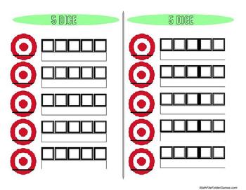 5 Dice: Order of Operations... by MathFileFolderGames | Teachers ...