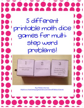 graphic relating to Printable Dice Games known as 5 Choice Printable Math Cube Game titles for Multi-move Term Issues