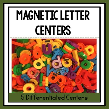 5 Differentiated Magnetic Letter Centers!