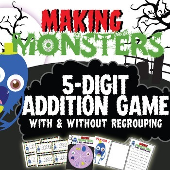 5 Digit Addition Game - MAKING MONSTERS!