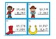 5 Digit Subtraction Regrouping Wild West Task Cards