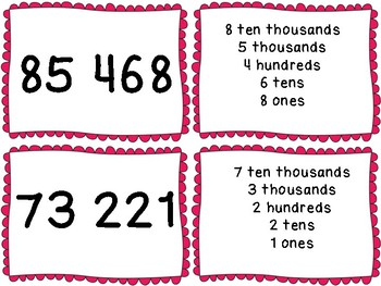 5 Digit Place Value Memory Game