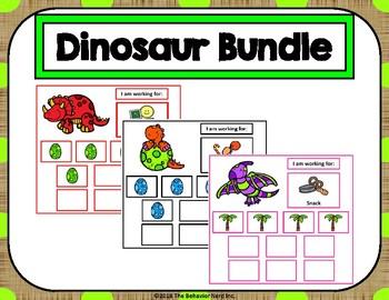 5 Dinosaur Token Board Bundle - 10 Token