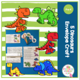5 Dinosaurs Envelope Craft