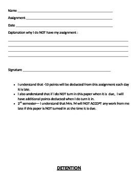 5 Discipline Forms & Rules Ready-to-Use for Middle School
