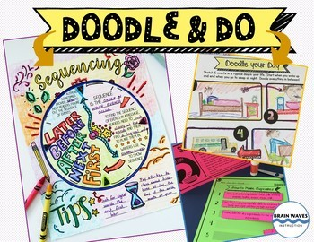 5 Doodle Notes and Activities Mini-Units - Reading Comprehension Passages